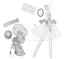 POINT ADOPTS: Coral Pearl and Citrine (CLOSED) by Cyvine