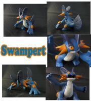 Weekly Sculpture: Swampert by ClayPita