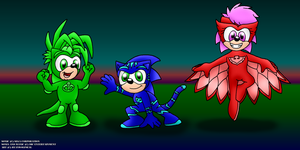 Sonic Underground as the PJ Masks by RyanWolfSEAL