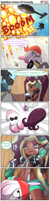 Splatfest-Action vs Comedy by RilexLenov