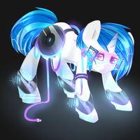 Vinyl Glow Pone by Camelliachu