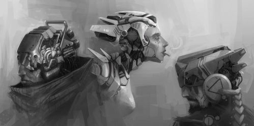Cyborgs by MikaelWang