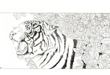 chinese tiger flowers by Rijio