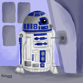 R2D2 plugging in by MahiyanaCarudla