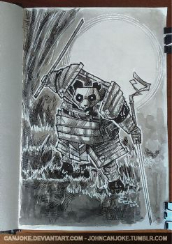 Sketchbook 01 - Panda Samourai by Canjoke