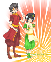 Zuko and Toph Rumble by LordMaru4U