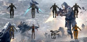 Set of robots from Titanfall for XPS by Melllin