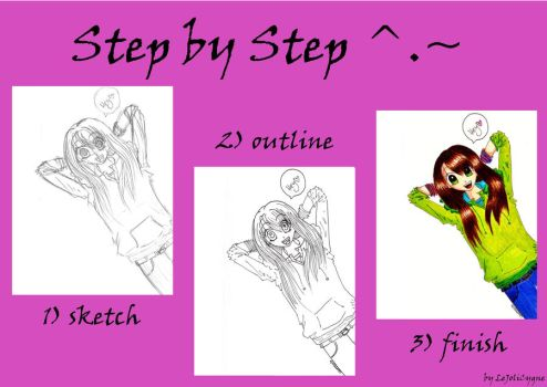 step by step - hey :) by LeJoliCygne