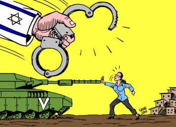 Solidarity to Jewish activist by Latuff2