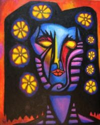 FLOWER GIRL 1 Original Contemporary Art PATTY by Sean-Patty