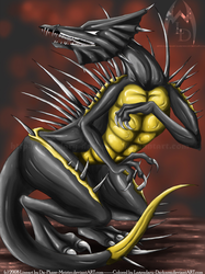 Collab: One Bad Ass Dragon by Legendary-Darkness