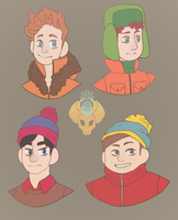 South Park Kiddos by TropicaIDeer