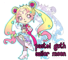 Pastel goth sailor moon by omoiiki
