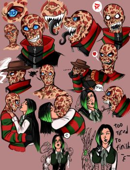 Freddy Krueger Study by DeathRage22