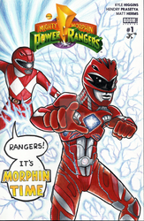 Power Rangers Sketch Cover by JMKohrs