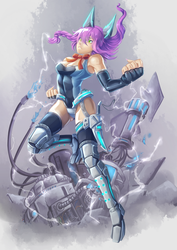 Commission: Adroid: Noel by ARSONicARTZ