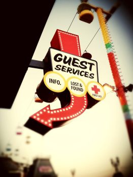 Guest Services. by Slate-Blue
