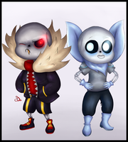 UF and US Sans :3 by CreepyPSo