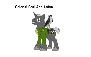 Colonel Coal And His Pet Anton The Evil Falcon by Zacharygoblin55