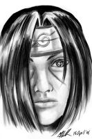 Realistic Itachi Sketch by sharem