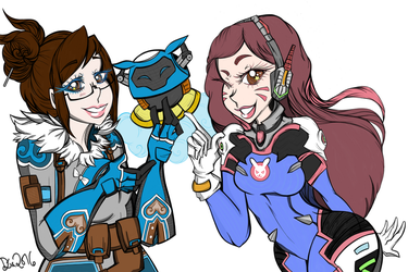 D.va and Mei from Overwatch (2016) by DianimeStudios