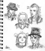 Craracters of Twisted Time by RossAnime