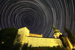 Old castle surrounded by stars by Gautama-Siddharta