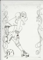 Roller Derby Poster by thomasofseattle