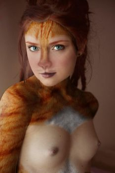 Redhead Catgirl by McGrinchTF