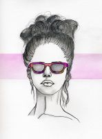 Girl in sunglasses by cnigrelli185