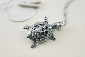 Sea Turtle Necklace by MonsterBrandCrafts