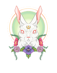 Flower Rabbit by Cottontail-Graphics
