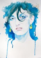 Watercolor Sketch - Kate by Wreckluse