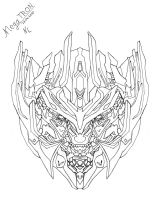Megatron -Head Sketch- by Rumblebee88