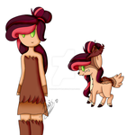 Human and Deer Pony by TwiDash-FTW
