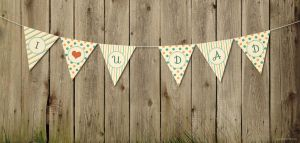 DAD Pennant Banner by Textuts