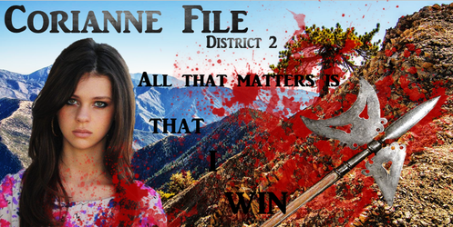 Corianne File Banner - Brutal by Obiwanlives4ever