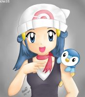 Dawn and Piplup by chie22