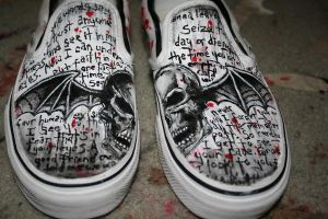 Deathbat shoes. by ILoveAllThePoison