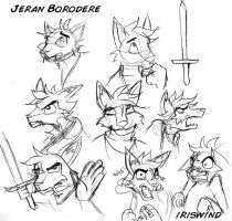 Jeran head sketches by iriswind