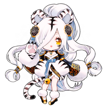 Day 1 White Tiger by Yamio
