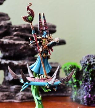 Exalted Sorcerer on his Disc of Tzeentch by sejason