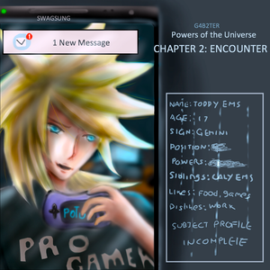 POTU CHAPTER 2 COVER + Toddy Ems Character Sheet by G4B2TER