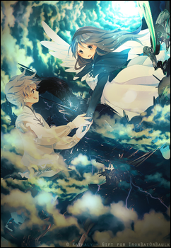 Agnes Oblige and Tiz Arrior - Bravely Default by Kathaly