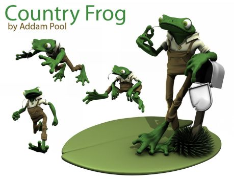 Country Frog - 3D Model by AddamPool