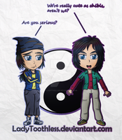 [Digimon Frontier] Yin Yang Chibis by LadyTaellise