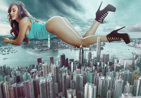 Ana Cheri giantess by eheh78