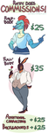 Commission prices by CrazyRatty