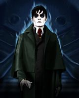 Barnabas Collins in Flames by David-Zahir