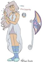 Moissanite(my gemsona) by Sun-Petals